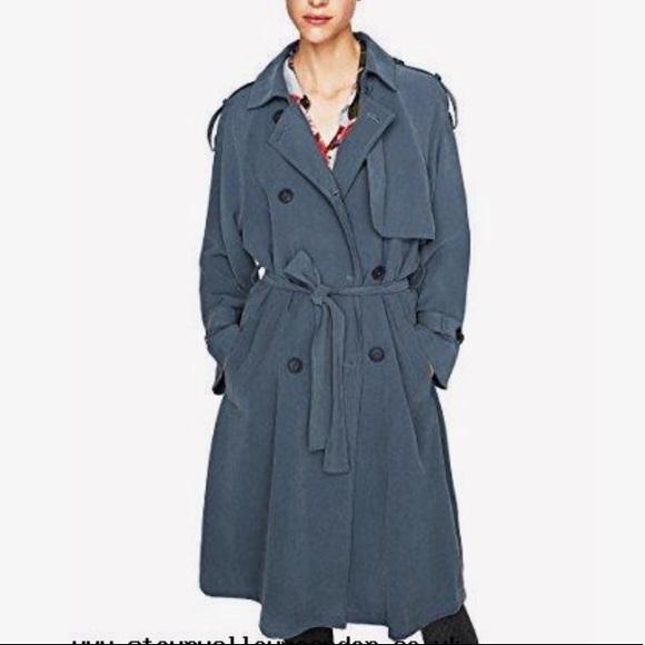 8ebcfce85d Blue Flowy Trench Coat | Zara